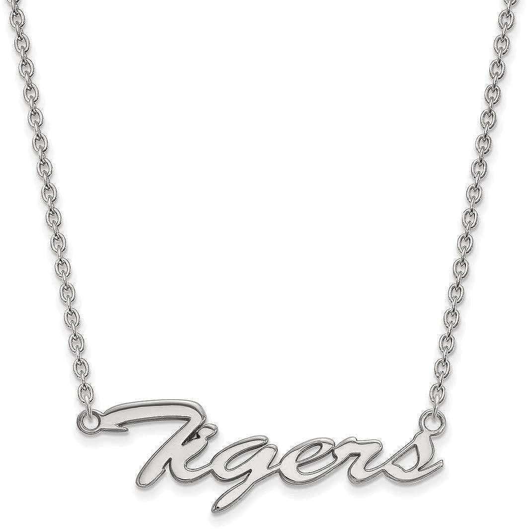 18 Sterling Silver Clemson University Necklace by LogoArt