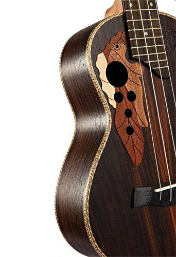 23-inch Hawaii ukulele rosewood professional concert Ukulele send tuner trim folder thick piano bag - Image 4