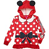 Princess Little Girls' Zip-up Fleece Hoodie with Faux Fur, 5, Minnie Mouse