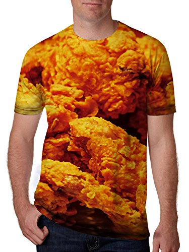 Leapparel Unisex Funny Food Fried Chicken Wings Print Hip Hop T Shirts Tees Apparel XXL
