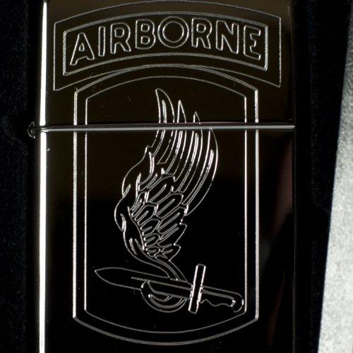 Lighter - 173rd Airborne Brigade High Polish Chrome (Engraved By Hip Flask Plus) - Star Int. Inc -