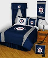 NHL Winnipeg Jets Hockey Queen Sidelines Bedding Set