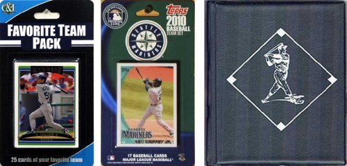 MLB Seattle Mariners Licensed 2010 Topps® Team Set and Favorite Player Trading Cards Plus Storage Album ()