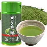 粉末緑茶 ・ 煎茶 楽らく茶 40g 振出し缶入 粉末茶 静岡産 粉砕茶