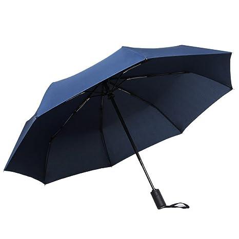 LybCvad paraguas Chica paraguas sombrilla de color beige grueso paraguas de bolsillo anti-vinilo fina