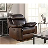 Abbyson Living Brody Top Grain Leather Recliner in Brown Review