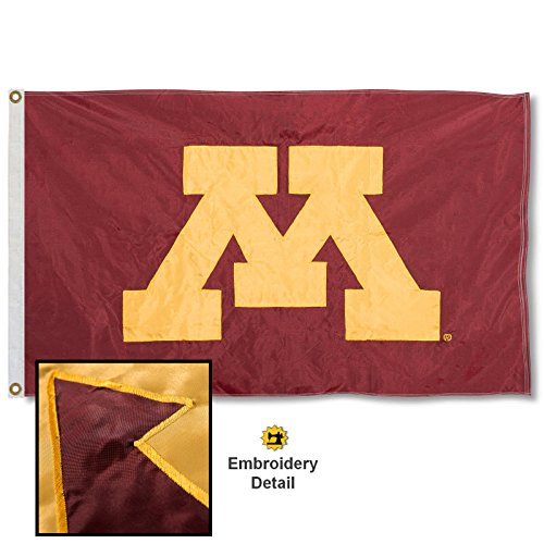Minnesota Gophers Embroidered and Stitched Nylon Flag