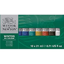 Winsor & Newton Winton Oil Colour Paint Basic Set, Ten 21ml Tubes