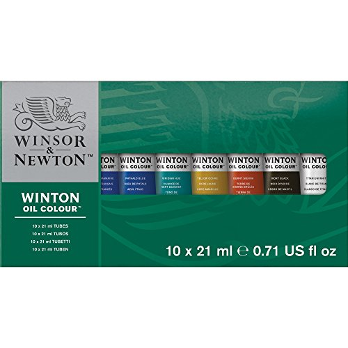 Winsor & Newton Winton Oil Colors Set - Basic 10 Color Set. (Packaging may - Oil Oil Colors Paint