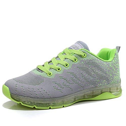 Calzado de Sneakers Respirable Outdoor Air del Zapatillas Zapatos ULOGU Mujer de Verde Deporte Malla Running UOqPPB