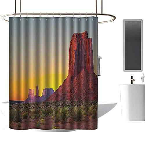(homehot Shower Curtains red Color House Decor,Sunset in Famous Grand Canyon Archaic Natural Wonders of World Heritage Photo,Red Yellow,W55 x L84,Shower Curtain for Girls)