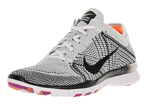 sports shoes a2fa8 6ef75 Galleon - Nike Womens Free Tr Flyknit Running Shoe (8, White Black Pure  Platinum Hyper Violet)