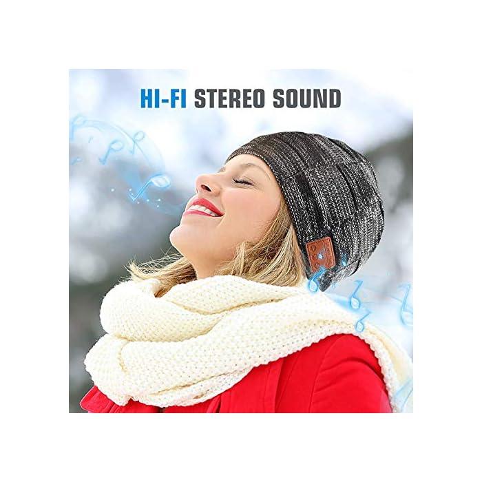 51pKyBDHZUL Haz clic aquí para comprobar si este producto es compatible con tu modelo Regalos de Música Perfectos para Hombre & Mujeres: El verdadero sonido de alta fidelidad HD produce una gran calidad de sonido, las gorras Bluetooth HANPURE son regalos perfectos para sus familias, amigos, niños, colegas, vecinos, socios de negocios en Navidad, Acción de Gracias, Año Nuevo, Día de San Valentín. El gorrito Bluetooth HANPURE con micrófono incorporado es adecuado para viajar durante las vacaciones, para deportes de interior y exterior como correr, caminar, esquiar, acampar, etc Chip de batería mejorado: Batería recargable de litio polimérico de 200mAh incorporada, el gorro Bluetooth HANPURE sólo necesita una carga de entre 1,5 y 2 horas, le da hasta 10-12 horas de tiempo de conversación/juego musical y más de 200 horas de tiempo de espera. Llevar un gorro Bluetooth HANPURE, es suficiente para alimentar tus entrenamientos con música durante una semana, o para hacer deportes al aire libre durante todo un día