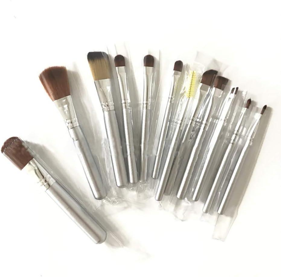 Juego de brochas de maquillaje con caja de hierro, 12 unidades, color dorado: Amazon.es: Belleza