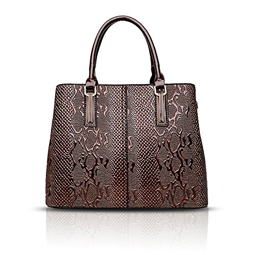 Handbag Bag Women's Sets Wallet Two Son Pattern Fashion Tisdaini Brown Messenger Handbags Shoulder Crocodile of 1XH0qxOd