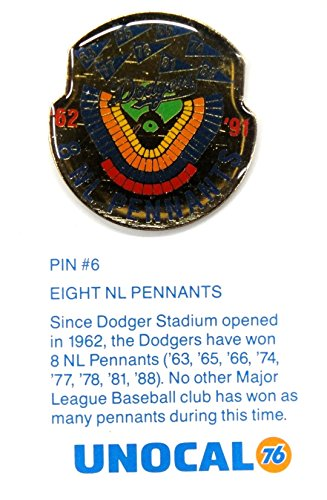 1 Pin- 8 National League Pennants Since Opened Los Angeles Dodgers Unocal 76 Pin ()