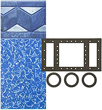 Up to 54-Inch Wall Height Universal Gasket Kit Included Designed for Steel Sided Above-Ground Swimming Pools Smartline Sunlight 15-Foot-by-24-Foot Oval Overlap Liner 20 Gauge Virgin Vinyl
