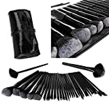 Lospu HY 32 Pieces Professional Essential Cosmetics Make Up Brush Set with ...