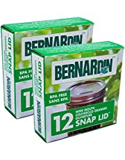 Bernardin Mason Jar Lids - Wide - 12 Snap Lids 86 MM - Pack of 2 (24 Lids)