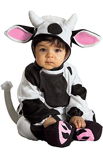 Rubie's Costume Cozy Cow, Black/White, 6-12 Months (Cow Costume For Kids)