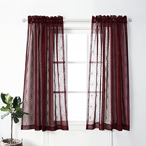 MYSKY HOME Embroidery Embroidered Burgundy product image