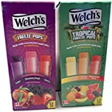 Welchs Two Pack of Freeze Pops - Pack of 2 (12 Pops/Box, Total of 24 Pops) Pineapple, Mango, Watermelon & Grape…