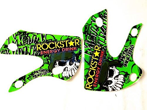 10Z ROCKSTAR METAL MULISHA GRAPHICS DECAL KIT KAWASAKI KLX110 KLX 110 KX 65 DE66