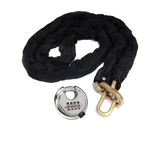Tooltime Heavy Duty 1.8 Metre High Security Motorcycle Chain + 4 Digit Combination Hardened Steel Padlock Tooltime®