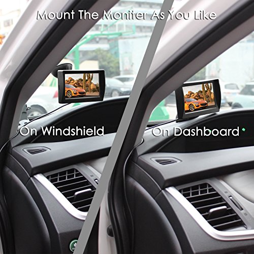 AUTO-VOX-M1W-Wireless-Backup-Camera-KitIP-68-Waterproof-LED-Super-Night-Vision-License-Plate-Reverse-Rear-View-Back-Up-Car-Camera43-TFT-LCD-Rearview-Monitor-for-VansCamping-CarsTrucksRVs