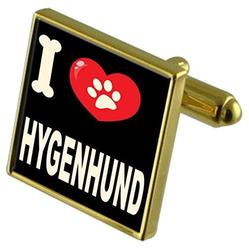 Select My Tone Love I Hygenhund Gold Gifts amp; Dog Clip Money Cufflinks 1qr1TZF