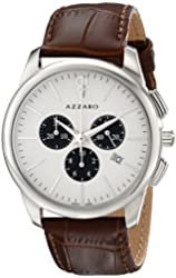 Azzaro Men's AZ2040.13AH.000 Legend Stainless Steel Watch with Brown Leather Band