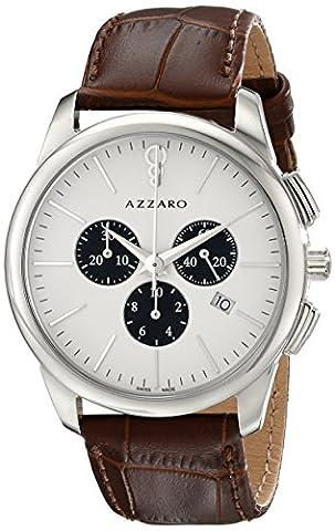 Azzaro Men's AZ2040.13AH.000 Legend Stainless Steel Watch with Brown Leather Band (Azzaro Men Quartz)