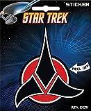 "Ata-Boy Star Trek Klingon Insignia 4"" Full Color Sticker"