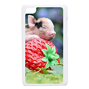 WJHSSB Phone Case Little Pig,Customized Case For Ipod Touch 4