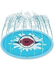 Surenhap 68 inch watersproeier pad Shark patroon waterspeelmat voor kinderen
