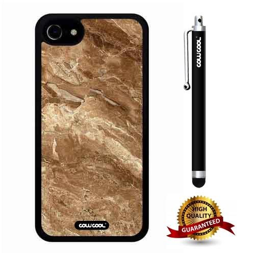 iphone 8 Case, iphone 7 Case, Marble Pattern Case, Cowcool Ultra Thin Soft Silicone Case for Apple iphone 7 8 - Rock Effect Marble ()