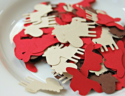 200 Pieces Cowboy Western Party Themed Confetti