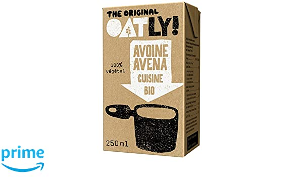 Oatly - Crema líquida con avena ecológica - 250 ml - [pack de 6]: Amazon.es: Alimentación y bebidas