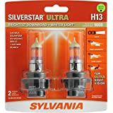 SYLVANIA H13 SilverStar Ultra High Performance Halogen Headlight Bulb, (Pack of 2)