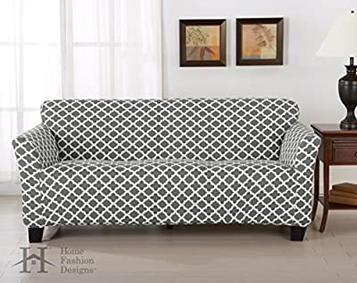 Home Fashion Designs Form Fit, Slip Resistant, Stylish Furniture Shield/Protector Featuring Lightweight Twill Fabric. Brenna Collection Basic Strapless Slipcover Brand.
