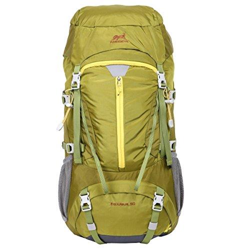 Eshow mochilla 50L Protector de Lluvia Ultraligero Montañismo Senderismo Deportes ocio para viajes. Verde