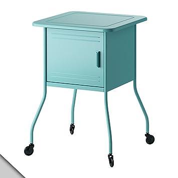 Amazon.com: IKEA – vettre Mesita de noche, color turquesa ...