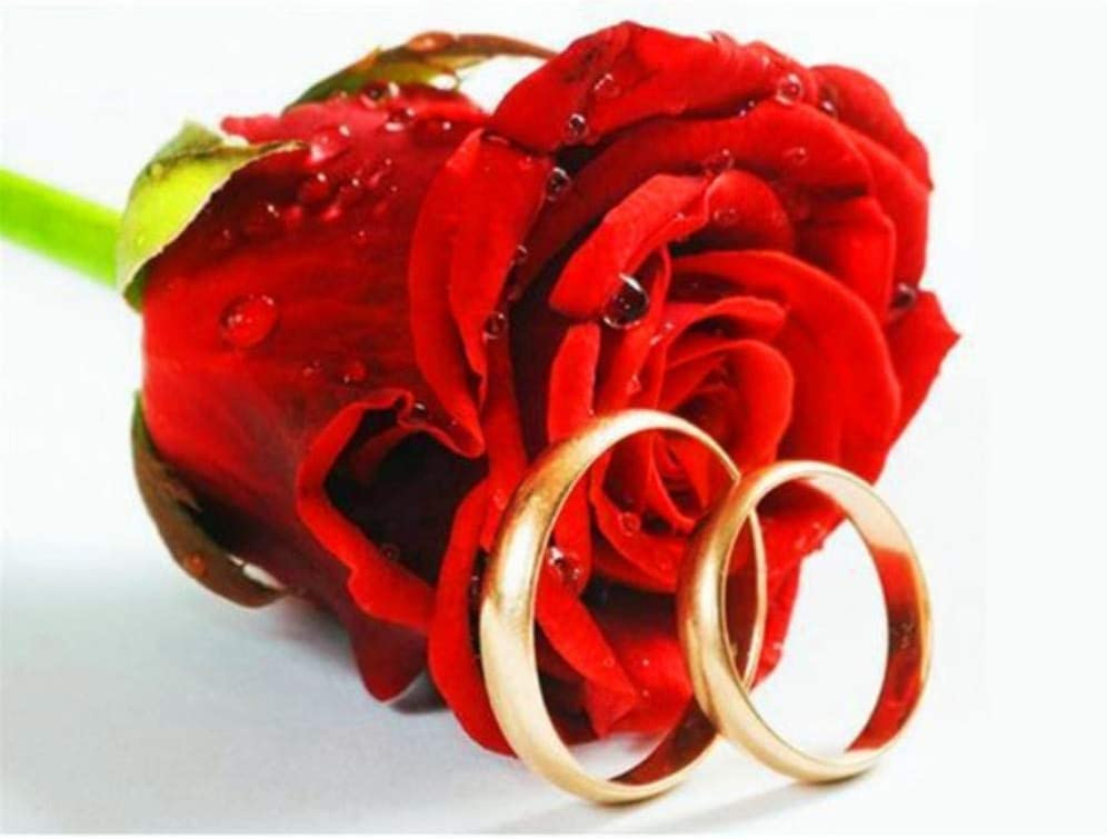 Amazon Com Jigsaw Puzzle 1000 Piece Flower Rose Ring Diy Wedding