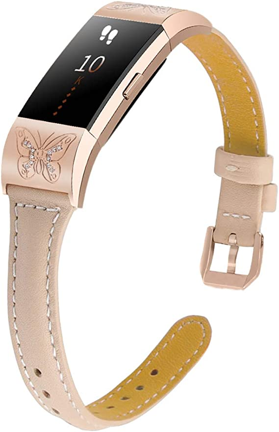 Fashion Genuine Leather Strap For Fitbit Charge 2 Replacement Band Strap