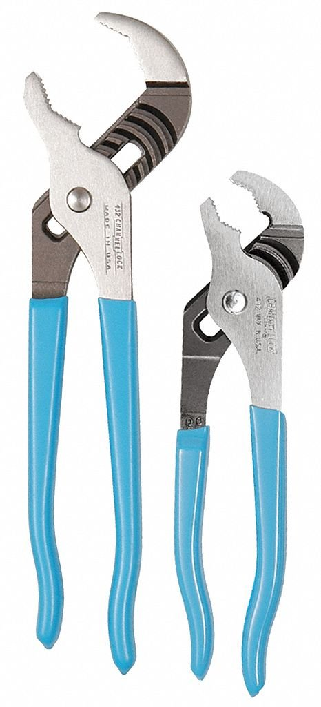 Channellock VJ-2 V-Jaw Tongue and Groove Plier Set, 2-Piece by Channellock
