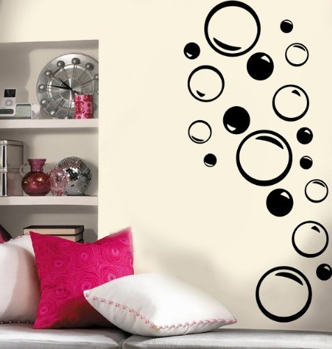 - Imprinted Designs Set of 36 - Bubble Vinyl Wall Decal (Bubbles Great for Bathroom)