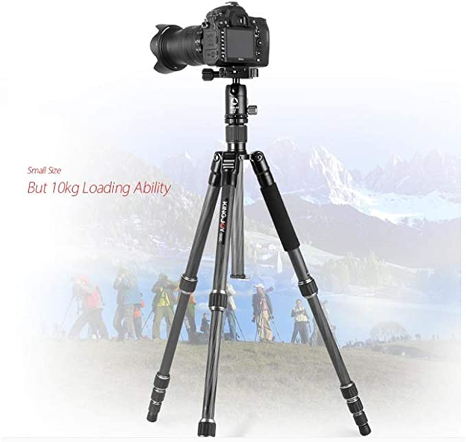 XUEME Travel Aluminum Tripod with Spherical PTZ SLR Camera Stand 4 Tripod for Cameras and Cameras Black