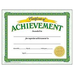 Certificate Of Achievement Classic Certificates; 30 Per Pack