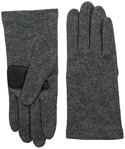 Echo Design Women's Touch Basic Wool Blend Glove, Grey Heather, Medium