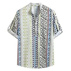 Men's Shirt Loose Casual Floral Ethnic P...